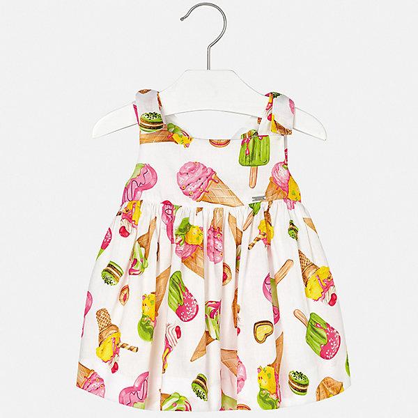 Платье Mayoral для девочкиПлатья<br>Характеристики товара:<br><br>• цвет: белый<br>• состав ткани верха: 100% хлопок<br>• подкладка: 100% хлопок<br>• сезон: лето<br>• застежка: молния<br>• без рукавов<br>• страна бренда: Испания<br>• неповторимый стиль Mayoral<br><br>Легкое платье для девочки от Майорал сделано из качественного материала, безопасного для детей. Это детское платье отличается современным дизайном и кроем, разработанным специально для детей. В платье для девочки от испанской компании Майорал ребенок может чувствовать себя комфортно весь день. <br><br>Платье для девочки Mayoral (Майорал) можно купить в нашем интернет-магазине.<br>Ширина мм: 236; Глубина мм: 16; Высота мм: 184; Вес г: 177; Цвет: зеленый; Возраст от месяцев: 12; Возраст до месяцев: 15; Пол: Женский; Возраст: Детский; Размер: 80,98,92,86; SKU: 7546295;
