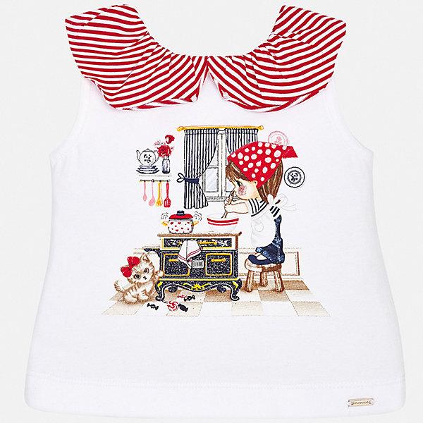 Футболка Mayoral для девочкиФутболки, поло и топы<br>Характеристики товара:<br><br>• цвет: мульти<br>• состав ткани: 95% хлопок, 5% эластан<br>• сезон: лето<br>• страна бренда: Испания<br>• неповторимый стиль Mayoral<br><br>Оригинальная детская футболка сделана из натуральной трикотажной ткани, которая обеспечивает ребенку комфорт. Такая детская футболка поможет создать модный и удобный наряд для ребенка. Эта футболка для девочки от Mayoral - универсальная и комфортная базовая вещь для детского гардероба. <br><br>Футболку Mayoral (Майорал) для девочки можно купить в нашем интернет-магазине.<br>Ширина мм: 199; Глубина мм: 10; Высота мм: 161; Вес г: 151; Цвет: красный; Возраст от месяцев: 6; Возраст до месяцев: 9; Пол: Женский; Возраст: Детский; Размер: 74,80,98,92,86; SKU: 7548117;