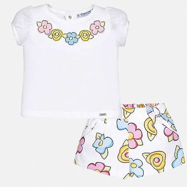 Mayoral Комплект: футболка и шорты Mayoral для девочки шорты chino шорты