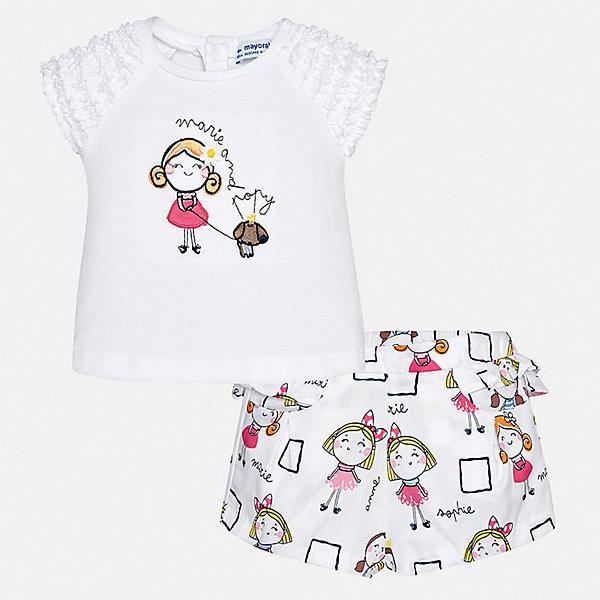 Mayoral Комплект: футболка и шорты Mayoral для девочки