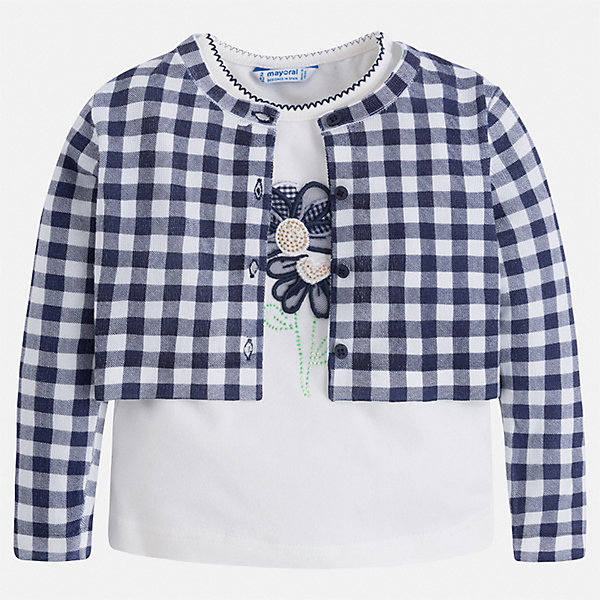 Mayoral Комплект: блузка и кардиган Mayoral для девочки miu miu черный шерстяной кардиган