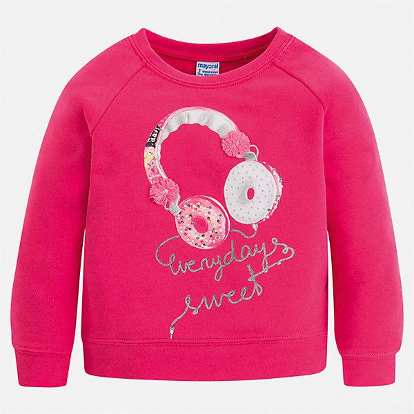 Пуловер Mayoral для девочкиТолстовки<br>Характеристики товара:<br><br>• цвет: мульти<br>• состав ткани: 57% хлопок, 38% полиэстер, 5% эластан<br>• сезон: демисезон<br>• длинные рукава<br>• стразы<br>• страна бренда: Испания<br>• стиль и качество Mayoral<br><br>Такой пуловер для девочки украшен оригинальным декором. Этот стильный пуловер для девочки от Mayoral удобно сидит по фигуре. Такой детский пуловер сделан из приятного на ощупь материала. Отличный способ обеспечить ребенку комфорт и аккуратный внешний вид - надеть детский свитер от Mayoral. <br><br>Пуловер Mayoral (Майорал) для девочки можно купить в нашем интернет-магазине.<br>Ширина мм: 190; Глубина мм: 74; Высота мм: 229; Вес г: 236; Цвет: розовый; Возраст от месяцев: 18; Возраст до месяцев: 24; Пол: Женский; Возраст: Детский; Размер: 92,134,170,122,158,152,140,128/134; SKU: 7548957;