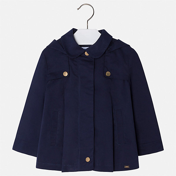 Плащ Mayoral для девочкиВерхняя одежда<br>Характеристики товара:<br><br>• цвет: синий<br>• состав ткани: 100% хлопок<br>• подкладка: 100% хлопок<br>• утеплитель: нет<br>• сезон: демисезон<br>• температурный режим: от +10 до +20<br>• особенности модели: с капюшоном<br>• застежка: молния<br>• страна бренда: Испания<br>• стиль и качество Mayoral<br><br>Легкий плащ для девочки отличается стильным продуманным кроем от европейских дизайнеров. В детском плаще есть капюшон, модель дополнена удобной молнией. Детский плащ сделан из качественного материала и фурнитуры. <br><br>Плащ Mayoral (Майорал) для девочки можно купить в нашем интернет-магазине.<br>Ширина мм: 356; Глубина мм: 10; Высота мм: 245; Вес г: 519; Цвет: синий; Возраст от месяцев: 18; Возраст до месяцев: 24; Пол: Женский; Возраст: Детский; Размер: 92,134,128,122,116,110,104,98; SKU: 7549209;