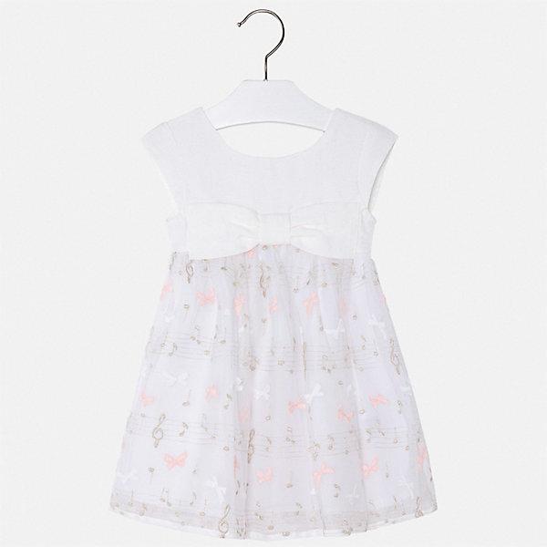 Mayoral Платье Mayoral для девочки платье для девочки маленький принц платье для девочки белое с синими полосками