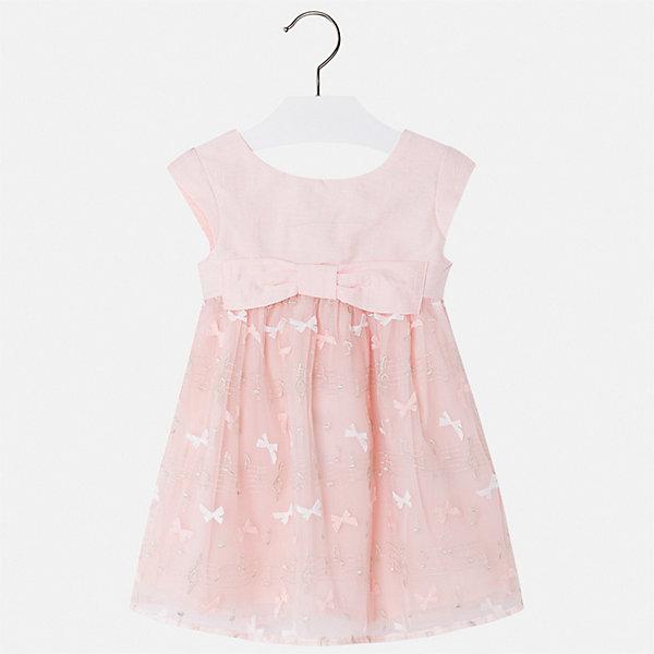 Платье Mayoral для девочкиЛетние платья и сарафаны<br>Характеристики товара:<br><br>• цвет: розовый<br>• состав ткани верха: 53% полиэстер, 23% полиамид, 22% вискоза, 2% металлизированная нить<br>• подкладка: 78% полиэстер, 22% хлопок<br>• сезон: круглый год<br>• особенности модели: нарядная<br>• застежка: молния<br>• короткие рукава<br>• страна бренда: Испания<br>• стиль и качество Mayoral<br><br>Качественное детское платье отличается модным и продуманным дизайном. В платье для девочки от испанской компании Майорал ребенок будет выглядеть модно, а чувствовать себя - комфортно. Красивое платье для девочки от Майорал поможет обеспечить ребенку комфорт. <br><br>Платье для девочки Mayoral (Майорал) можно купить в нашем интернет-магазине.<br>Ширина мм: 236; Глубина мм: 16; Высота мм: 184; Вес г: 177; Цвет: красный; Возраст от месяцев: 96; Возраст до месяцев: 108; Пол: Женский; Возраст: Детский; Размер: 134,128,122,116,110,104,98; SKU: 7549991;