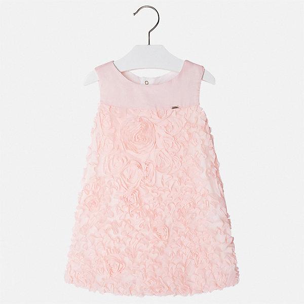 Платье Mayoral для девочкиПлатья и сарафаны<br>Характеристики товара:<br><br>• цвет: розовый<br>• состав ткани верха: 100% полиэстер<br>• подкладка: 50% полиэстер, 50% хлопок<br>• сезон: круглый год<br>• особенности модели: нарядная<br>• застежка: молния<br>• без рукавов<br>• страна бренда: Испания<br>• стиль и качество Mayoral<br><br>Нарядное детское платье отличается модным и продуманным дизайном. В платье для девочки от испанской компании Майорал можно пойти на торжественное мероприятие. Красивое платье для девочки от Майорал поможет обеспечить ребенку комфорт. <br><br>Платье для девочки Mayoral (Майорал) можно купить в нашем интернет-магазине.<br>Ширина мм: 236; Глубина мм: 16; Высота мм: 184; Вес г: 177; Цвет: красный; Возраст от месяцев: 18; Возраст до месяцев: 24; Пол: Женский; Возраст: Детский; Размер: 92,134,128,122,116,98,104,110; SKU: 7550069;