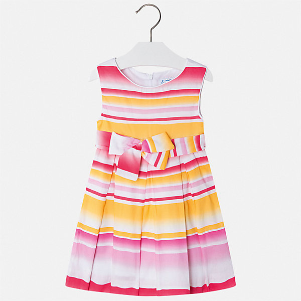 Платье Mayoral для девочкиЛетние платья и сарафаны<br>Характеристики товара:<br><br>• цвет: белый<br>• состав ткани верха: 100% хлопок<br>• подкладка: 50% полиэстер, 50% хлопок<br>• сезон: лето<br>• застежка: молния<br>• без рукавов<br>• страна бренда: Испания<br>• стиль и качество Mayoral<br><br>Красивое платье для девочки от Майорал поможет обеспечить ребенку комфорт, оно хорошо сочетается с различной обувью. Такое платье для девочки отличается оригинальным кроем. Это детское платье сделано из качественного материала. <br><br>Платье для девочки Mayoral (Майорал) можно купить в нашем интернет-магазине.<br>Ширина мм: 236; Глубина мм: 16; Высота мм: 184; Вес г: 177; Цвет: розовый; Возраст от месяцев: 18; Возраст до месяцев: 24; Пол: Женский; Возраст: Детский; Размер: 92,134,128,122,116,110,104,98; SKU: 7550277;