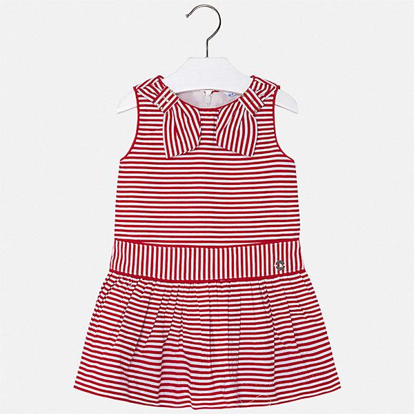 Платье Mayoral для девочкиПлатья и сарафаны<br>Характеристики товара:<br><br>• цвет: красный<br>• состав ткани верха: 100% хлопок<br>• подкладка: 100% хлопок<br>• сезон: лето<br>• застежка: молния<br>• без рукавов<br>• страна бренда: Испания<br>• стиль и качество Mayoral<br><br>Хлопковое детское платье сделано из качественного материала. Такое платье для девочки от Майорал поможет обеспечить ребенку комфорт, оно хорошо сочетается с различной обувью. Это платье для девочки отличается оригинальным кроем. <br><br>Платье для девочки Mayoral (Майорал) можно купить в нашем интернет-магазине.<br>Ширина мм: 236; Глубина мм: 16; Высота мм: 184; Вес г: 177; Цвет: красный; Возраст от месяцев: 72; Возраст до месяцев: 84; Пол: Женский; Возраст: Детский; Размер: 122,116,110,104,98,92,134,128; SKU: 7550349;
