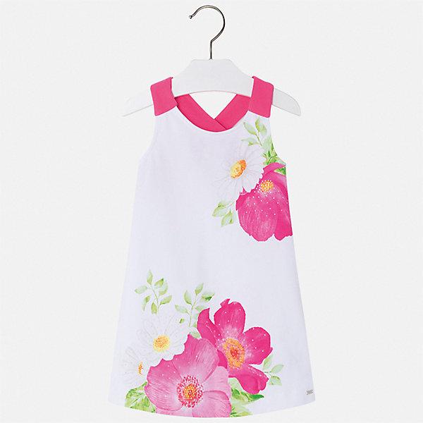 Платье Mayoral для девочкиЛетние платья и сарафаны<br>Характеристики товара:<br><br>• цвет: белый<br>• состав ткани верха: 92% хлопок, 8% эластан<br>• сезон: лето<br>• без рукавов<br>• стразы<br>• страна бренда: Испания<br>• стиль и качество Mayoral<br><br>Легкое платье для девочки отличается тщательной проработкой всех швов. Это детское платье сделано из качественного приятного на ощупь материала. Благодаря легкой ткани детского платья для девочки создаются комфортные условия для тела. <br><br>Платье для девочки Mayoral (Майорал) можно купить в нашем интернет-магазине.<br>Ширина мм: 236; Глубина мм: 16; Высота мм: 184; Вес г: 177; Цвет: розовый; Возраст от месяцев: 48; Возраст до месяцев: 60; Пол: Женский; Возраст: Детский; Размер: 134,128,122,116,104,98,110,92; SKU: 7550535;