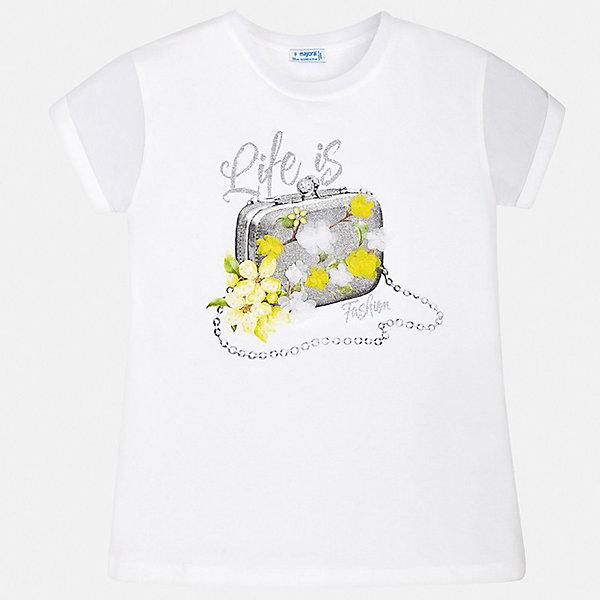 Mayoral Футболка Mayoral для девочки футболки и топы zeyland футболка для девочки 71z2mpc51