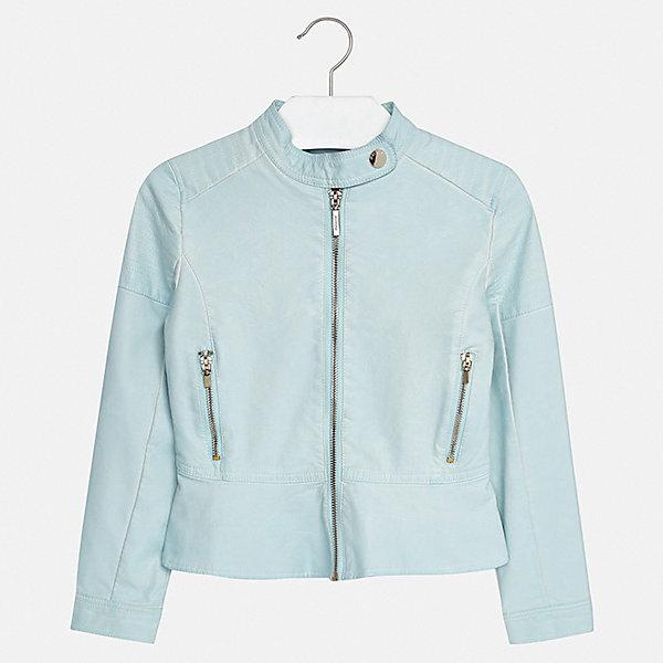 Куртка Mayoral для девочкиВерхняя одежда<br>Характеристики товара:<br><br>• цвет: голубой<br>• состав ткани: 100% полиуретан<br>• подкладка: 100% полиэстер<br>• утеплитель: нет<br>• сезон: демисезон<br>• особенности куртки: без капюшона<br>• застежка: молния<br>• страна бренда: Испания<br>• стиль и качество Mayoral<br><br>Голубая куртка для девочки отличается стильным продуманным кроем от европейских дизайнеров, смотрится очень модно. В детской куртке удобная застежка. Детская куртка сделана из качественного материала и фурнитуры. <br><br>Куртку Mayoral (Майорал) для девочки можно купить в нашем интернет-магазине.<br>Ширина мм: 356; Глубина мм: 10; Высота мм: 245; Вес г: 519; Цвет: голубой; Возраст от месяцев: 96; Возраст до месяцев: 108; Пол: Женский; Возраст: Детский; Размер: 128/134,170,164,158,152,140; SKU: 7551610;