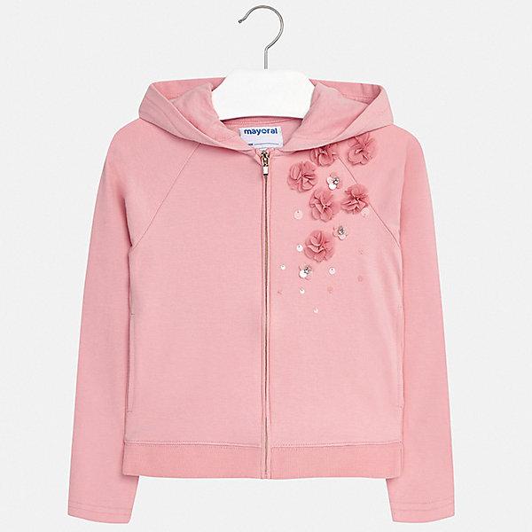 Куртка Mayoral для девочкиВерхняя одежда<br>Характеристики товара:<br><br>• цвет: розовый<br>• состав ткани: 96% хлопок, 4% эластан<br>• утеплитель: нет<br>• сезон: демисезон<br>• особенности куртки: с капюшоном <br>• застежка: молния<br>• стразы<br>• страна бренда: Испания<br>• стиль и качество Mayoral<br><br>Оригинальная детская куртка сделана из качественного материала и фурнитуры. Такая куртка для девочки отличается стильным продуманным кроем от европейских дизайнеров, детская куртка разработана с учетом последних тенденций в моде. В куртке для ребенка - удобная застежка. <br><br>Куртку Mayoral (Майорал) для девочки можно купить в нашем интернет-магазине.<br>Ширина мм: 356; Глубина мм: 10; Высота мм: 245; Вес г: 519; Цвет: разноцветный; Возраст от месяцев: 96; Возраст до месяцев: 108; Пол: Женский; Возраст: Детский; Размер: 128/134,170,164,158,152,140; SKU: 7551673;