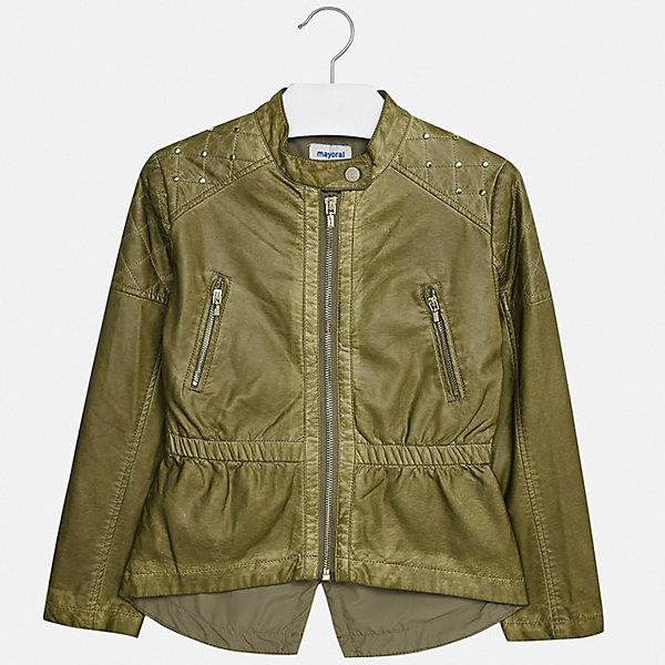 Mayoral Кожаная куртка Mayoral юбка расклешенная из искусственной кожи