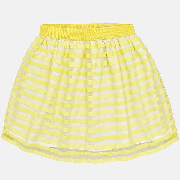 Юбка Mayoral для девочкиЮбки<br>Характеристики товара:<br><br>• цвет: желтый<br>• состав ткани верха: 100% полиэстер<br>• подкладка: 65% полиэстер, 35% хлопок<br>• сезон: круглый год<br>• особенности модели: нарядная<br>• талия: резинка<br>• страна бренда: Испания<br>• стиль и качество Mayoral<br><br>Эффектная юбка для ребенка была разработана специально для девочек. Такая детская юбка от известного бренда Майорал отлично подходит для любого времени года. Эта детская юбка дополнена мягкой резинкой на талии. <br><br>Юбку для девочки Mayoral (Майорал) можно купить в нашем интернет-магазине.<br>Ширина мм: 207; Глубина мм: 10; Высота мм: 189; Вес г: 183; Цвет: желтый; Возраст от месяцев: 96; Возраст до месяцев: 108; Пол: Женский; Возраст: Детский; Размер: 128/134,164,158,152,140; SKU: 7552015;