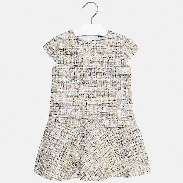 Платье Mayoral для девочкиОдежда<br>Характеристики товара:<br><br>• цвет: голубой<br>• состав ткани верха: 97% полиэстер, 3% металлизированная нить<br>• подкладка: 100% полиэстер<br>• сезон: лето<br>• застежка: молния<br>• без рукавов<br>• страна бренда: Испания<br>• стиль и качество Mayoral<br><br>Интересное детское платье сделано из качественного приятного на ощупь материала. Благодаря легкой ткани детского платья для девочки создаются комфортные условия для тела. Удобное платье для девочки отличается стильным продуманным дизайном. <br><br>Платье для девочки Mayoral (Майорал) можно купить в нашем интернет-магазине.<br>Ширина мм: 236; Глубина мм: 16; Высота мм: 184; Вес г: 177; Цвет: голубой; Возраст от месяцев: 96; Возраст до месяцев: 108; Пол: Женский; Возраст: Детский; Размер: 128/134,170,164,158,152,140; SKU: 7552096;
