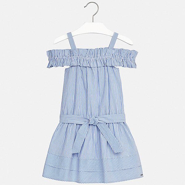 Платье Mayoral для девочкиЛетние платья и сарафаны<br>Характеристики товара:<br><br>• цвет: голубой<br>• состав ткани: 100% хлопок<br>• сезон: лето<br>• без рукавов<br>• страна бренда: Испания<br>• стиль и качество Mayoral<br><br>Хлопковое платье для девочки от испанской компании Майорал - пример стильной и качественной одежды. Это платье для девочки от Майорал поможет обеспечить ребенку удобство. Детское платье отличается качественными фурнитурой и материалом. <br><br>Платье для девочки Mayoral (Майорал) можно купить в нашем интернет-магазине.<br>Ширина мм: 236; Глубина мм: 16; Высота мм: 184; Вес г: 177; Цвет: бежевый; Возраст от месяцев: 156; Возраст до месяцев: 168; Пол: Женский; Возраст: Детский; Размер: 164,128/134,170,158,152,140; SKU: 7552456;
