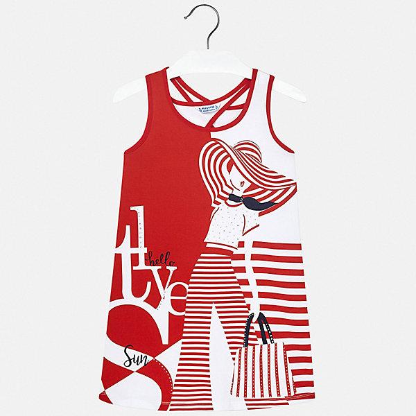 Платье Mayoral для девочкиПлатья и сарафаны<br>Характеристики товара:<br><br>• цвет: красный<br>• состав ткани: 95% хлопок, 5% эластан<br>• сезон: лето<br>• без рукавов<br>• стразы<br>• страна бренда: Испания<br>• стиль и качество Mayoral<br><br>Легкое платье для девочки от испанской компании Майорал - пример стильной и качественной одежды. Это платье для девочки от Майорал поможет обеспечить ребенку удобство. Детское платье отличается качественными фурнитурой и материалом. <br><br>Платье для девочки Mayoral (Майорал) можно купить в нашем интернет-магазине.<br>Ширина мм: 236; Глубина мм: 16; Высота мм: 184; Вес г: 177; Цвет: красный; Возраст от месяцев: 144; Возраст до месяцев: 156; Пол: Женский; Возраст: Детский; Размер: 158,128/134,170,164,152,140; SKU: 7552498;