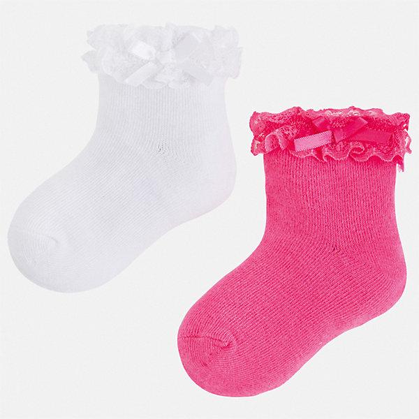 Комплект:2 пары носок Mayoral для девочкиНоски<br>Характеристики товара:<br><br>• цвет: белый<br>• комплектация: 2 пары<br>• состав ткани: 74% хлопок, 23% полиамид, 3% эластан<br>• сезон: круглый год<br>• страна бренда: Испания<br>• стиль и качество Mayoral<br><br>Мягкие детские носки смотрятся аккуратно и нарядно. Эти носки для девочки от популярного бренда Mayoral отличаются оригинальным декором. В таких носках для детей от испанской компании Майорал ребенок будет выглядеть модно, а чувствовать себя - комфортно. <br><br>Комплект: 2 пары носков Mayoral (Майорал) для девочки можно купить в нашем интернет-магазине.<br>Ширина мм: 87; Глубина мм: 10; Высота мм: 105; Вес г: 115; Цвет: розовый; Возраст от месяцев: 96; Возраст до месяцев: 108; Пол: Женский; Возраст: Детский; Размер: 33-35,24-26,30-32,27-29; SKU: 7552561;