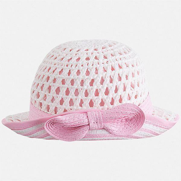 Шляпа Mayoral для девочкиГоловные уборы<br>Характеристики товара:<br><br>• цвет: белый<br>• состав ткани: 100% бумага<br>• подкладка: 80% полиэстер, 20% хлопок<br>• сезон: лето<br>• страна бренда: Испания<br>• стиль и качество Mayoral<br><br>Летняя детская шляпа обеспечивает комфорт даже в жаркую погоду благодаря возможности вентиляции. Модная шляпа для детей от испанской компании Mayoral отличается оригинальным и современным дизайном. Легкая шляпа для девочки от Майорал стильно смотрится. <br><br>Шляпу Mayoral (Майорал) для девочки можно купить в нашем интернет-магазине.<br>Ширина мм: 89; Глубина мм: 117; Высота мм: 44; Вес г: 155; Цвет: розовый; Возраст от месяцев: 24; Возраст до месяцев: 36; Пол: Женский; Возраст: Детский; Размер: 50,54,52; SKU: 7552665;