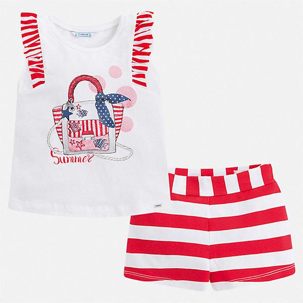 Фото - Mayoral Комплект: футболка и шорты Mayoral для девочки шорты luhta luhta lu692ewauhw7