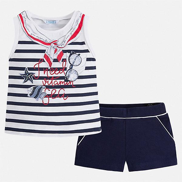 Mayoral Комплект: футболка и шорты Mayoral для девочки mayoral mayoral комплект одежды футболка и шорты синий