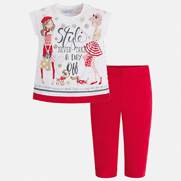 Mayoral Комплект: футболка и бриджи Mayoral для девочки