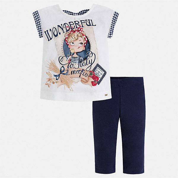 Купить Комплект:леггинсы, блузка Mayoral для девочки, Китай, синий, 128, 92, 122, 116, 110, 104, 98, 134, Женский