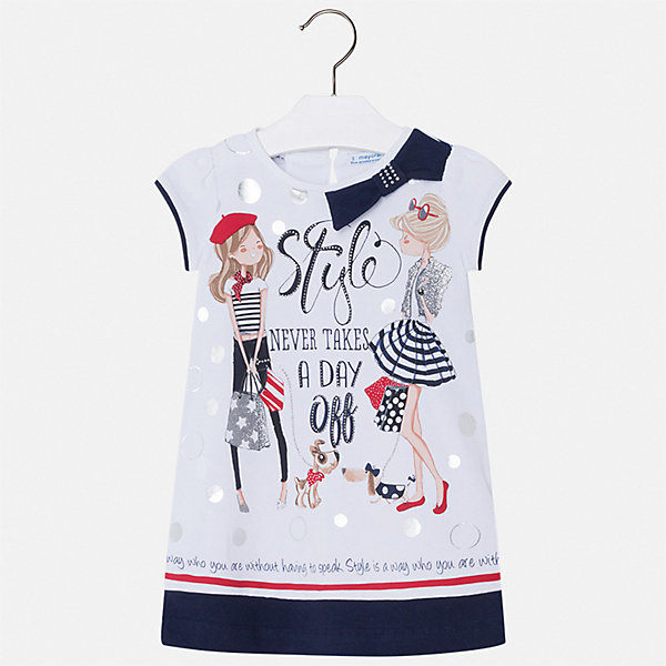 Mayoral Платье Mayoral для девочки девочки летнее платье симпатичные девушки девочки весна одежда повседневный стиль хлопок 2018 новое прибытие печать мини loose платья для детей