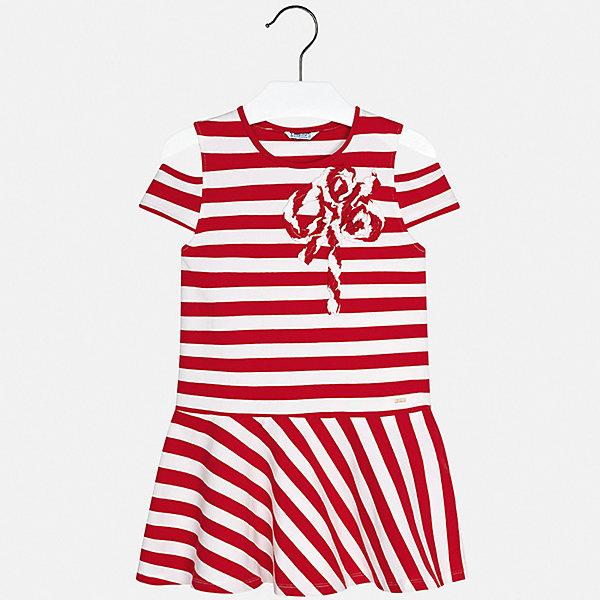 Платье Mayoral для девочкиПлатья и сарафаны<br>Характеристики товара:<br><br>• цвет: красный<br>• состав ткани: 95% хлопок, 5% эластан<br>• сезон: лето<br>• короткие рукава<br>• страна бренда: Испания<br>• стиль и качество Mayoral<br><br>Удобное платье для девочки от испанской компании Майорал - стильный удачный наряд от европейских дизайнеров. Легкое детское платье отличается модным дизайном. Это платье для девочки от Майорал сделано из качественного материала и тщательно подобранной фурнитуры. <br><br>Платье для девочки Mayoral (Майорал) можно купить в нашем интернет-магазине.<br>Ширина мм: 236; Глубина мм: 16; Высота мм: 184; Вес г: 177; Цвет: красный; Возраст от месяцев: 96; Возраст до месяцев: 108; Пол: Женский; Возраст: Детский; Размер: 128/134,170,164,158,152,140; SKU: 7554359;
