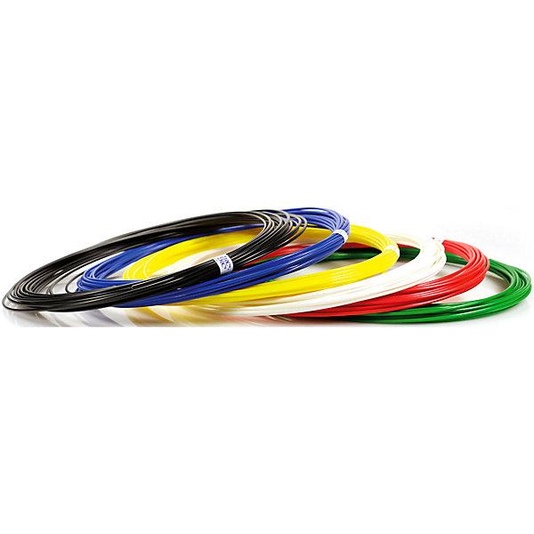 Набор пластика для 3D ручек Unid ABS-6 6 цветов, 10 м каждыйПластик для 3D ручек<br>Характеристики товара: <br><br>• возраст: от 4 лет;<br>• тип пластика: ABS;<br>• в комплекте: 6 катушек по 10 метров;<br>• цвета: белый, черный, красный, синий, желтый, зеленый;<br>• размер упаковки: 18,5х18,7х5,7 см;<br>• вес упаковки: 210 гр.;<br>• страна производитель: Китай.<br><br>Набор пластика для 3D ручек Unid ABS-6 — необходимый материал при использовании 3D ручки для создания объемных рисунков. Пластик под нагреванием способен принимать разнообразные формы. Пластик ABS является нетоксичным и безопасным.<br><br>Набор пластика для 3D ручек Unid ABS-6 можно приобрести в нашем интернет-магазине..<br>Ширина мм: 185; Глубина мм: 187; Высота мм: 57; Вес г: 210; Возраст от месяцев: 48; Возраст до месяцев: 1188; Пол: Унисекс; Возраст: Детский; SKU: 7556133;