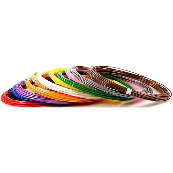 Купить Набор пластика для 3D ручек Unid ABS-12 10 цветов, 10 м каждый, Россия, Унисекс