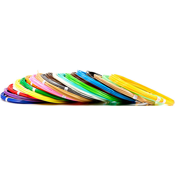 Unid Набор пластика для 3D ручек Unid ABS-20 20 цветов, 10 м каждый комплект пла пластика для 3d ручек 7 цветов myriwell