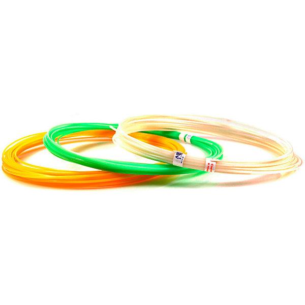 Unid Набор пластика для 3D ручек Unid ABS-F 3 цвета, 10 м каждый (светится в темноте) abs 1 75 3d 395m
