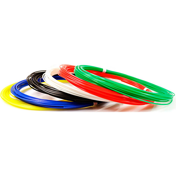 Набор пластика для 3D ручек Unid PLA-6 6 цветов, 10 м каждыйПластик для 3D ручек<br>Характеристики товара: <br><br>• возраст: от 4 лет;<br>• тип пластика: PLA;<br>• в комплекте: 6 катушек по 10 метров;<br>• цвета: белый, черный, красный, синий, желтый, зеленый;<br>• размер упаковки: 18,5х18,7х5,7 см;<br>• вес упаковки: 250 гр.;<br>• страна производитель: Китай.<br><br>Набор пластика для 3D ручек Unid PLA-6 — необходимый материал при использовании 3D ручки для создания объемных рисунков. Пластик под нагреванием способен принимать разнообразные формы. Пластик является нетоксичным и безопасным.<br><br>Набор пластика для 3D ручек Unid PLA-6 можно приобрести в нашем интернет-магазине.<br>Ширина мм: 185; Глубина мм: 187; Высота мм: 57; Вес г: 250; Возраст от месяцев: 48; Возраст до месяцев: 1188; Пол: Унисекс; Возраст: Детский; SKU: 7556139;