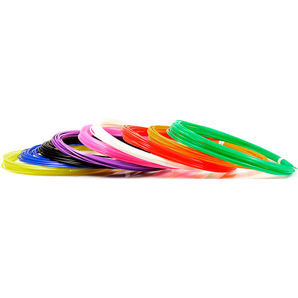 Unid Набор пластика для 3D ручек Unid PLA-9 9 цветов, 10 м каждый набор пластика cactus pla для 3d ручек 12 цветов по 10 метров