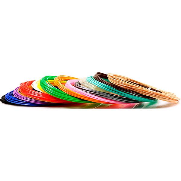 Unid Набор пластика для 3D ручек Unid PLA-15 15 цветов, 10 м каждый набор пластика cactus pla для 3d ручек 12 цветов по 10 метров