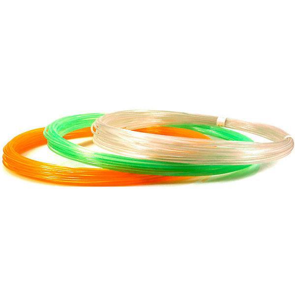 Unid Набор пластика для 3D ручек PRO-F 3 цвета, 10 м каждый (светится в темноте)