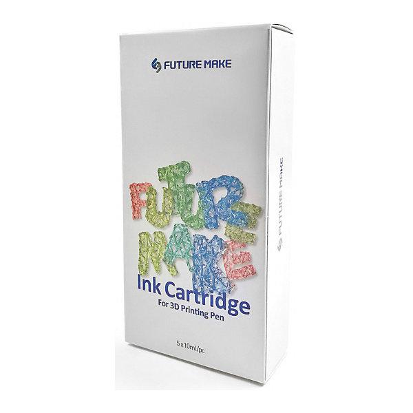 Future Make Набор картриджей для 3D ручки Future Make Polyes PS Микс B, 5шт футляр для картриджей 2 стилуса для приставки ds lite красно белый