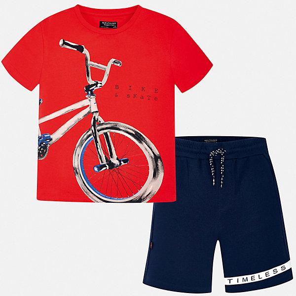 Комплект:Футболка с длинным рукавом,брюки Mayoral для мальчикаКомплекты<br>Характеристики товара:<br><br>• цвет: мульти<br>• комплектация: шорты, футболка<br>• состав ткани: 100% хлопок<br>• сезон: лето<br>• особенности модели: спортивный стиль<br>• пояс: резинка, шнурок<br>• короткие рукава<br>• страна бренда: Испания<br>• неповторимый стиль Mayoral<br><br>В детском комплекте от Mayoral - сразу две стильные вещи. Эти футболка и шорты для мальчика от Майорал помогут обеспечить ребенку комфорт в жаркое время года. В футболке и шортах для мальчика от испанской компании Майорал ребенок будет выглядеть модно, а чувствовать себя - удобно.<br><br>Комплект: шорты, футболка Mayoral (Майорал) для мальчика можно купить в нашем интернет-магазине.<br>Ширина мм: 230; Глубина мм: 40; Высота мм: 220; Вес г: 250; Цвет: синий; Возраст от месяцев: 168; Возраст до месяцев: 180; Пол: Мужской; Возраст: Детский; Размер: 170,164,158,152,140,128/134; SKU: 7556672;