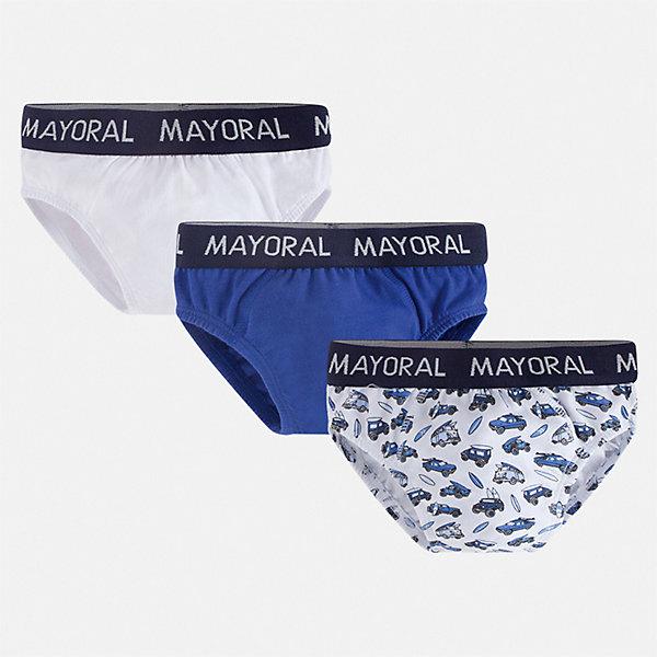 Купить Комплект: 3 пары трусов Mayoral для мальчика, Китай, синий, Мужской