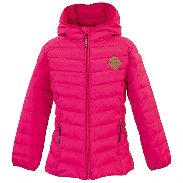 Куртка STENNA Huppa для девочекДемисезонные куртки<br>Характеристики товара:<br><br>• цвет: фуксия; <br>• модель: Stenna;<br>• состав: 100% полиэстер;<br>• подкладка: 100% полиэстер, тафта;<br>• утеплитель: 100% полиэстер, синтетический пух;<br>• сезон: демисезон;<br>• температурный режим: от -5 до +10С;<br>• водонепроницаемость: 5000 мм ;<br>• воздухопроницаемость: 5000 г/м2/24ч;<br>• ветронепроницаемая;<br>• застежка: молния;<br>• капюшон не отстёгивается;<br>• кромка капюшона на резинке;<br>• два кармана на молнии;<br>• светоотражающие детали;<br>• страна бренда: Эстония;<br>• страна изготовитель: Эстония.<br><br>Утепленная куртка на молнии обеспечит детям тепло и комфорт. Куртка с капюшоном сделана из материала, отталкивающего воду, дополнена подкладкой из тафты и утеплителем, поэтому изделие идеально подходит для межсезонья. <br><br>Куртка застегивается на молнию, утеплитель из синтетического пуха защитит ребенка от холода и ветра. Имеется два кармана на молнии, капюшон не съёмный.<br><br>Куртку STENNA от бренда Huppa (Хуппа) можно купить в нашем интернет-магазине.