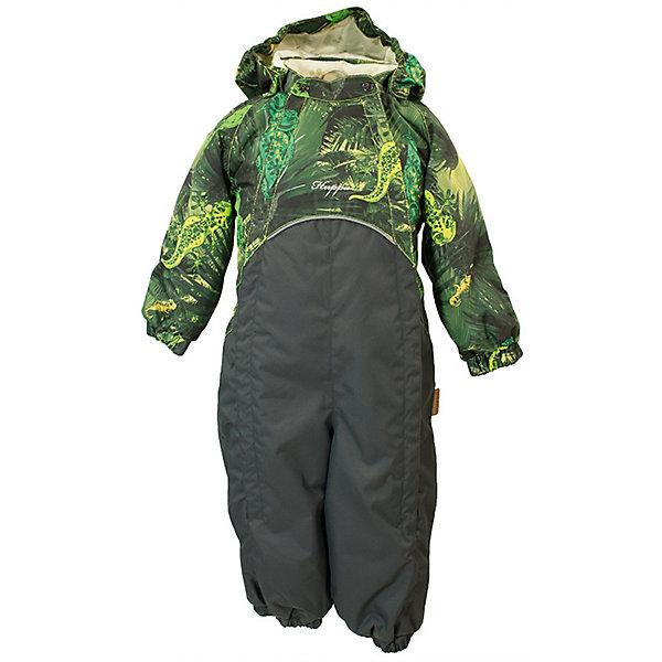 Комбинезон GOLDEN HuppaВерхняя одежда<br>Характеристики товара:<br><br>• цвет: светло-зелёный принт/тёмно-серый; <br>• модель: Golden;<br>• состав: 100% полиэстер;<br>• подкладка: 100% хлопок, фланель;<br>• утеплитель: 100% полиэстер, 100 гр.;<br>• сезон: демисезон;<br>• температурный режим: от -5 до +10С;<br>• водонепроницаемость: 5000 мм ;<br>• воздухопроницаемость: 5000 г/м2/24ч;<br>• ветронепродуваемый;<br>• застежка: двойная молния и кнопки на воротнике;<br>• сидельный шов и боковые швы проклеены;<br>• съёмный капюшон на кнопках;<br>• эластичная резинка по кромке капюшона;<br>• манжеты рукавов на мягкой эластичной резинке;<br>• манжеты с отворотом у размеров 62-80;<br>• манжеты брюк на резинке;<br>• съемные эластичные штрипки;<br>• без внутренних швов;<br>• светоотражающие элементы;<br>• страна бренда: Эстония;<br>• страна изготовитель: Эстония.<br><br>Утепленный комбинезон сделан из материала, отталкивающего воду, дополнен подкладкой из тафты и утеплителем, поэтому изделие идеально подходит для межсезонья. Материал изделия - с мембранной технологией: защищает от влаги и ветра, ветронепродуваемый. Демисезонный комбинезон застёгивается на две молнии и кнопки на воротнике, манжеты у комбинезона с отворотами в размерах с 62 по 80. Комбинезон с отстёгивающимся капюшоном на кнопках, имеются съёмные эластичные штрипки.<br><br>Комбинезон GOLDEN от бренда Huppa (Хуппа) можно купить в нашем интернет-магазине.<br>Ширина мм: 356; Глубина мм: 10; Высота мм: 245; Вес г: 519; Цвет: зеленый; Возраст от месяцев: 12; Возраст до месяцев: 15; Пол: Унисекс; Возраст: Детский; Размер: 80,98,92,86; SKU: 7571211;
