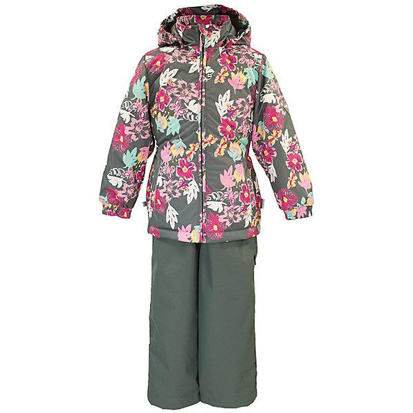 Комплект YONNE Huppa для девочекВерхняя одежда<br>Характеристики товара:<br><br>• цвет: серый принт/серый; <br>• модель: Yonne;<br>• состав: 100% полиэстер;<br>• подкладка: 100% полиэстер, тафта;<br>• утеплитель: 100% полиэстер, куртка - 100 гр., полукомбинезон – 40 гр.;<br>• сезон: демисезон;<br>• температурный режим: от -5 до +10С;<br>• водонепроницаемость: куртка 5000, брюки 10000 мм ;<br>• воздухопроницаемость: куртка 5000, брюки 10000 г/м2/24ч;<br>• ветронепродуваемый;<br>• застежка: молния с защитой подбородка, брюки на молнии и пуговице;<br>• сидельный шов проклеен;<br>• съёмный капюшон на кнопках;<br>• эластичная резинка по кромке капюшона;<br>• манжеты рукавов на мягкой эластичной резинке;<br>• регулируемый низ брючин;<br>• шнурок-утяжка со стопером по низу брючин;<br>• два прорезных кармана у куртки;<br>• брюки на съёмных эластичных подтяжках;<br>• внутренние петли для подтяжек;<br>• светоотражающие элементы;<br>• страна бренда: Эстония;<br>• страна изготовитель: Эстония.<br><br>Утепленный комплект сделан из материала, отталкивающего воду, дополнен подкладкой из тафты и утеплителем, поэтому изделие идеально подходит для межсезонья. Материал изделия - с мембранной технологией: защищает от влаги и ветра, ветронепродуваемый. Демисезонный комплект застёгивается на молнию, манжеты рукавов на мягкой эластичной резинке. Брюки со съёмными подтяжками и регулируемым низом штанин с утяжкой-стопером.<br><br>Комплект YONNE 1 от бренда Huppa (Хуппа) можно купить в нашем интернет-магазине.<br>Ширина мм: 356; Глубина мм: 10; Высота мм: 245; Вес г: 519; Цвет: серый; Возраст от месяцев: 84; Возраст до месяцев: 96; Пол: Женский; Возраст: Детский; Размер: 128,152,146,140,134; SKU: 7571494;