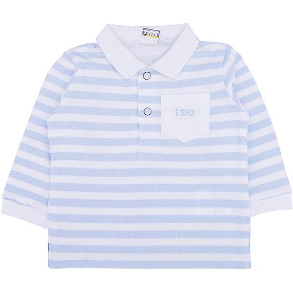 Футболка-поло iDO для мальчикаКофточки и распашонки<br>Характеристики товара:<br><br>• цвет: белый<br>• состав ткани: 100% хлопок<br>• сезон: демисезон<br>• длинные рукава<br>• страна бренда: Италия<br><br>Полосатая хлопковая детская футболка-поло с длинным рукавом отличается мягкими манжетами. Эта футболка-поло для ребенка - от известного итальянского бренда iDO, который известен высоким качеством и европейским стилем выпускаемой одежды для детей. Футболка-поло для мальчика поможет создать удобный и модный наряд.<br><br>Футболку-поло iDO (АйДу) для мальчика можно купить в нашем интернет-магазине.<br>Ширина мм: 199; Глубина мм: 10; Высота мм: 161; Вес г: 151; Цвет: белый; Возраст от месяцев: 6; Возраст до месяцев: 9; Пол: Мужской; Возраст: Детский; Размер: 74,86,68,80; SKU: 7587775;