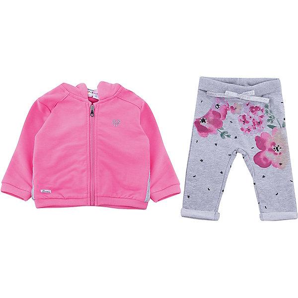 Спортивный костюм iDO для девочкиСпортивная одежда<br>Характеристики товара:<br><br>• цвет: розовый<br>• комплектация: толстовка, брюки<br>• состав ткани: 100% хлопок<br>• сезон: демисезон<br>• особенности модели: спортивный стиль<br>• застежка: молния<br>• пояс: резинка, шнурок<br>• длинные рукава<br>• страна бренда: Италия<br><br>Яркий спортивный костюм для девочки сделан из мягкого дышащего натурального хлопка. Детский спортивный костюм состоит из толстовки и брюк. Этот спортивный костюм для ребенка разработан специалистами популярного бренда iDO, который выпускает модные и комфортные вещи для детей. <br><br>Спортивный костюм iDO (АйДу) для девочки можно купить в нашем интернет-магазине.<br>Ширина мм: 247; Глубина мм: 16; Высота мм: 140; Вес г: 225; Цвет: розовый; Возраст от месяцев: 3; Возраст до месяцев: 6; Пол: Женский; Возраст: Детский; Размер: 68,86,80,74; SKU: 7587810;