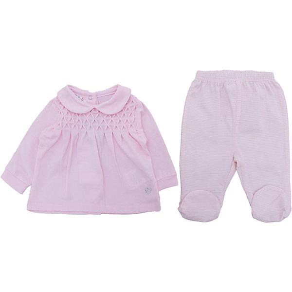 iDO Комплект: кофточка, ползунки iDO для девочки комплект одежды для девочки котмаркот кофточка штанишки цвет розовый 2802 размер 56