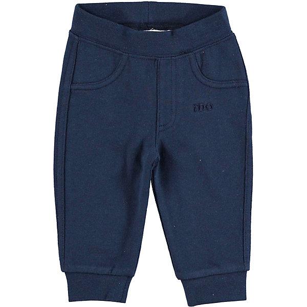 Брюки iDO для девочкиБрюки<br>Характеристики товара:<br><br>• цвет: синий<br>• состав ткани: 100% хлопок<br>• сезон: круглый год<br>• особенности модели: спортивный стиль<br>• пояс: резинка<br>• страна бренда: Италия<br><br>Спортивные детские брюки выполнены в универсальной расцветке. Эти брюки для ребенка разработаны итальянскими дизайнерами популярного бренда iDO, который выпускает модные и удобные вещи для детей. Брюки для девочки выполнены из дышащего натурального хлопка.<br><br>Брюки iDO (АйДу) для девочки можно купить в нашем интернет-магазине.