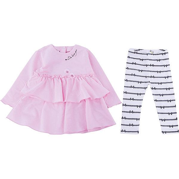 Комплект: футболка с длинным рукавом, леггинсы iDO для девочкиКомплекты<br>Комплект: футболка с длинным рукавом, леггинсы iDO для девочки<br>Комплект из кофточки и леггинсов из 100% хлопка.<br><br>Состав: <br>100% хлопок<br>Ширина мм: 230; Глубина мм: 40; Высота мм: 220; Вес г: 250; Цвет: белый; Возраст от месяцев: 3; Возраст до месяцев: 6; Пол: Женский; Возраст: Детский; Размер: 68,86,80,74; SKU: 7587885;
