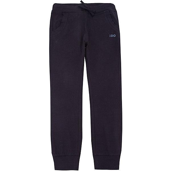 Брюки iDO для мальчикаБрюки<br>Характеристики товара:<br><br>• цвет: черный<br>• состав ткани: 100% хлопок<br>• сезон: круглый год<br>• особенности модели: спортивный стиль<br>• пояс: резинка<br>• страна бренда: Италия<br><br>Такие серые спортивные детские брюки выполнены в практичной расцветке. Эти брюки для ребенка разработаны итальянскими дизайнерами популярного бренда iDO, который выпускает модные и удобные вещи для детей. Брюки для мальчика выполнены из дышащего натурального хлопка.<br><br>Брюки iDO (АйДу) для мальчика можно купить в нашем интернет-магазине.<br>Ширина мм: 215; Глубина мм: 88; Высота мм: 191; Вес г: 336; Цвет: черный; Возраст от месяцев: 84; Возраст до месяцев: 96; Пол: Мужской; Возраст: Детский; Размер: 128,140,122,170,164,152; SKU: 7587897;