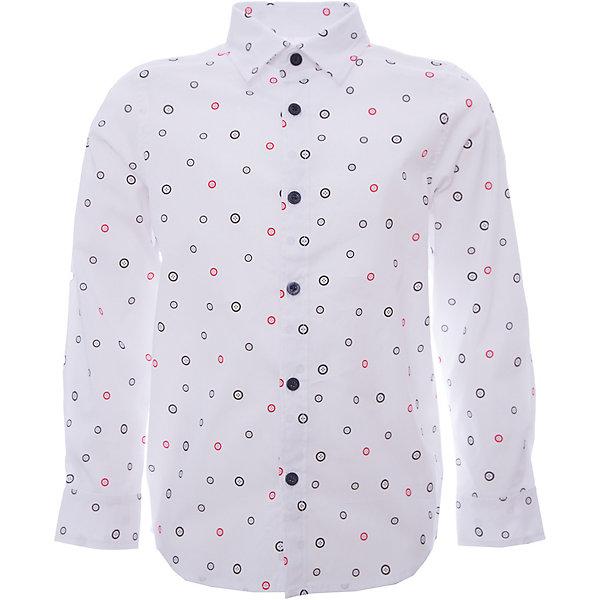 Рубашка iDO для мальчикаТолстовки, свитера, кардиганы<br>Рубашка iDO для мальчика<br>Классная вещь для парня! Симпатичная рубашка с принтом в виде пуговичек, в комплекте идет платок из той же ткани для украшения пиджака.<br><br>Состав: <br>69% хлопок 27% акрил 4% др.вол.<br>Ширина мм: 174; Глубина мм: 10; Высота мм: 169; Вес г: 157; Цвет: белый; Возраст от месяцев: 18; Возраст до месяцев: 24; Пол: Мужской; Возраст: Детский; Размер: 92,122,116,110,104,98; SKU: 7587966;